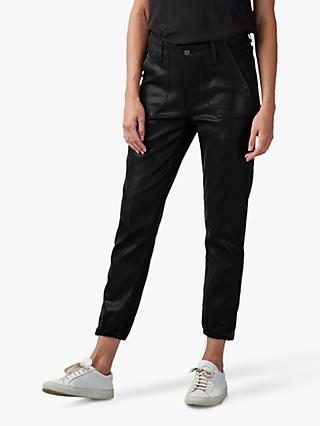 Paige Mayslie Coated Jogger Jeans, Black