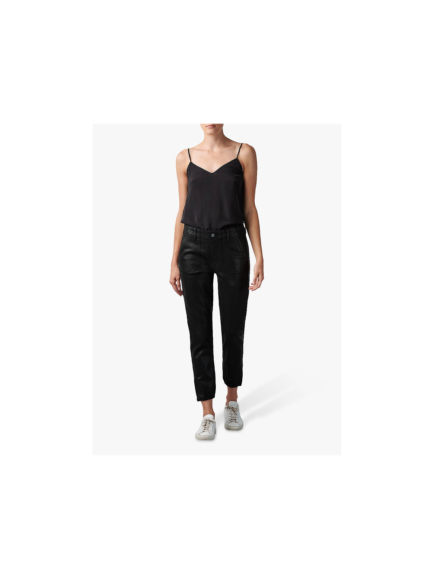 Buy Paige Mayslie Coated Jogger Jeans, Black, 24 Online at johnlewis.com