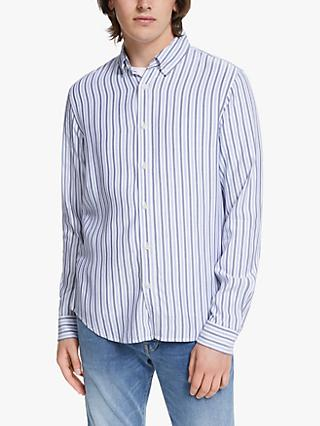 Scotch & Soda Stripe Long Sleeve Shirt, 0220 Combo D