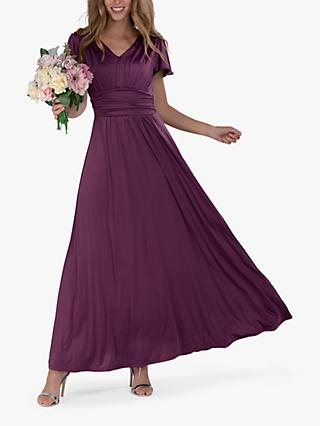Jolie Moi Cap Sleeve Maxi Dress