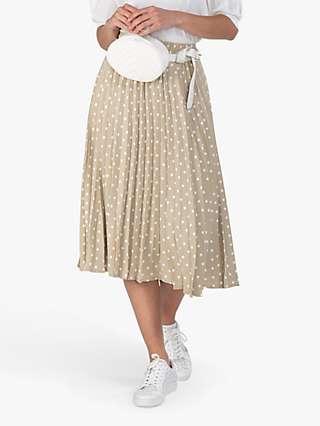 Jolie Moi Spotty Midi Skirt