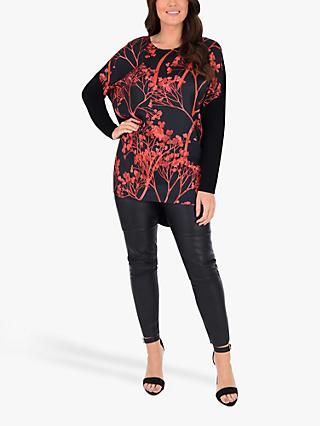 Live Unlimited Curve Printed Top, Black/Multi