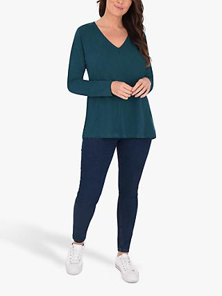 Live Unlimited Curve V-Neck Top, Green