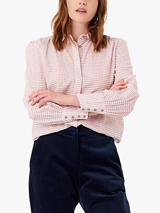 Brora Houndstooth Cotton Shirt, Shell