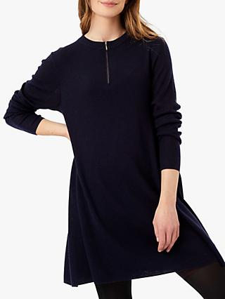 Brora Merino Ribbed Swing Dress
