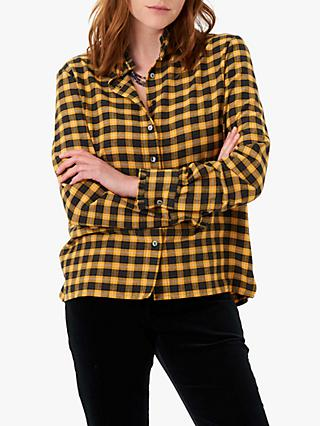 Brora Plaid Pie Crust Shirt, Mustard