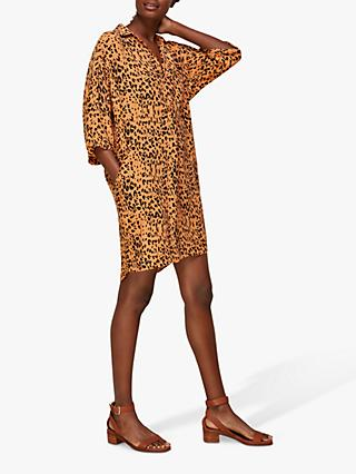 Whistles Safari Print T-Shirt Dress, Multi