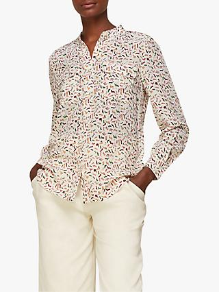 Whistles Shoe Print Silk Shirt, Multi