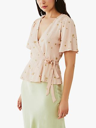 Ghost Belle Star Crepe Embroidered Blouse, Starry Surprise