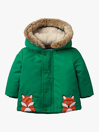 Mini Boden Baby Cosy 3-in-1 Coat, Forest Green