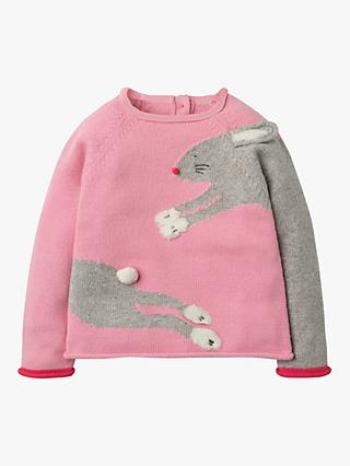 Mini Boden Girls' Fun Bunny Jumper, Formica Pink