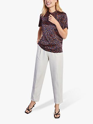 Jigsaw Speckle Silk Printed Tee, Multi