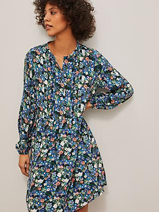 AND/OR Meredith Crowded Daisy Dress, Blue/Multi
