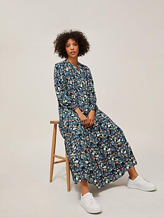 AND/OR Abigail Crowded Daisy Maxi Dress, Blue/Multi