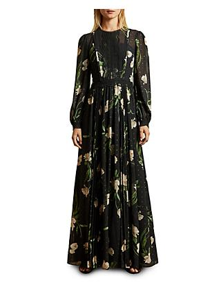 Ted Baker Deenha Floral Print Maxi Dress, Black