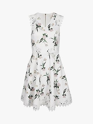 Ted Baker Nolla White Floral Mini Dress, White