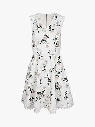Ted Baker Nolla White Floral Mini Dress, White