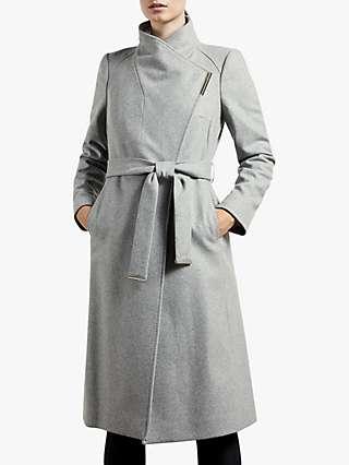 Ted Baker Rose Belted Wool Blend Coat