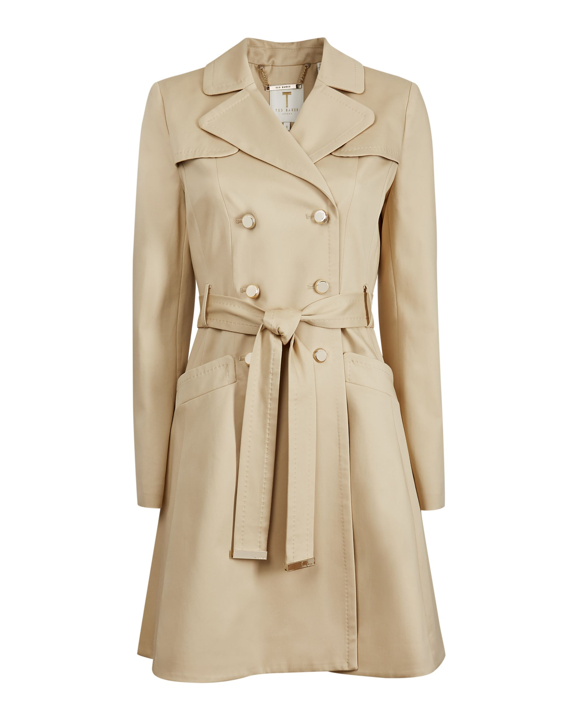Ted Baker Molson Classic Trench Coat, Tan, 6