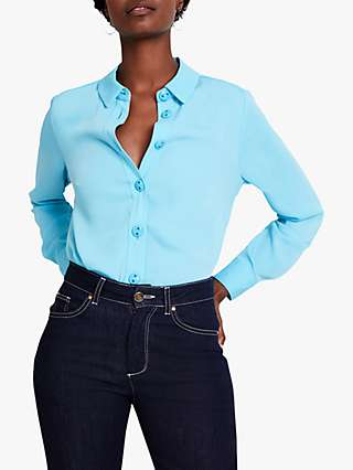 Damsel in a Dress Asha Shirt, Aqua