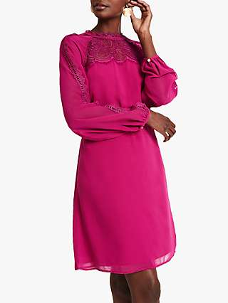 Damsel in a Dress Sania Lace Mini Dress, Purple