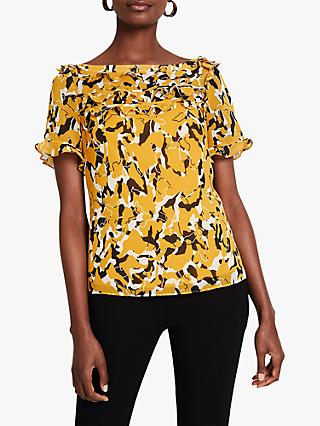 Damsel in a Dress Consta Frill Detail Blouse, Mustard