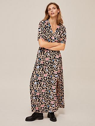 Somerset by Alice Temperley Floral Leopard Maxi Dress, Multi