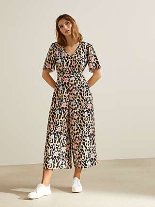 Somerset by Alice Temperley Floral Leopard Jumpsuit, Multi