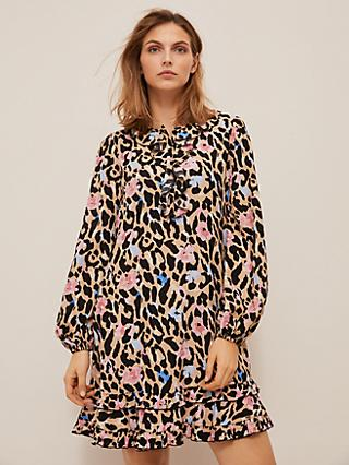 Somerset by Alice Temperley Floral Leopard Mini Dress, Multi