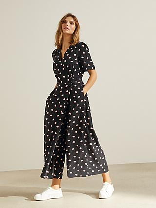 Somerset by Alice Temperley Spring Spot Jumpsuit, Black