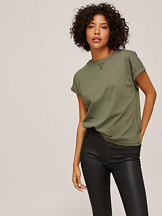 AND/OR Cotton Tank T-Shirt, Khaki