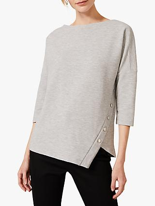 Phase Eight Ola Asymmetric Button Side Top, Grey
