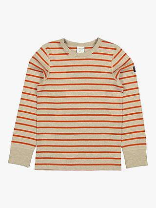 Polarn O. Pyret Children's GOTS Organic Cotton Striped Long Sleeved Top