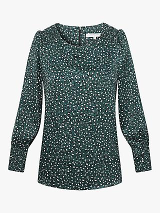 Gerard Darel Altea Print Blouse, Green