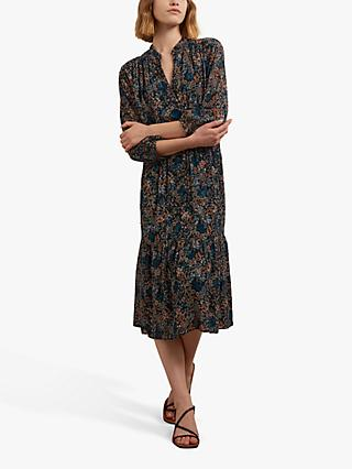 Gerard Darel Teodora Floral Midi Dress, Black