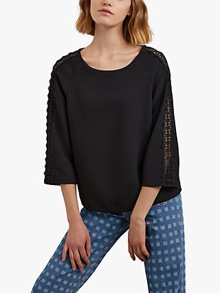 Gerard Darel Assia Lace Blouse, Black