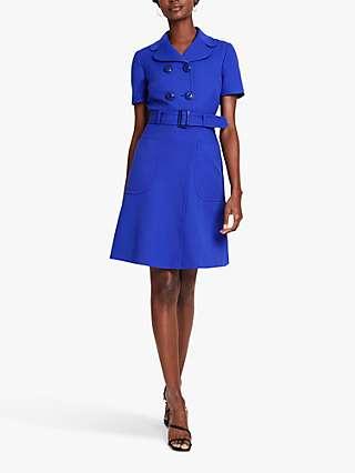 Damsel in a Dress Renu Button Mini Dress, Cobalt