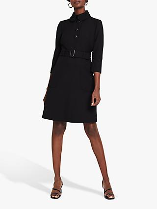 Damsel in a Dress Adie Button Knee Length Shirt Dress, Black