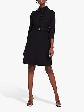 Damsel in a Dress Adie Button Knee Length Shirt Dress, Black