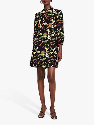 Damsel in a Dress Carine Floral Mini Dress, Black/Multi