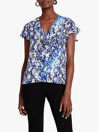 Damsel in a Dress Anysia Snake Blouse, Blue