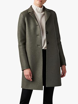 Harris Wharf London Button Up Boxy Wool Coat