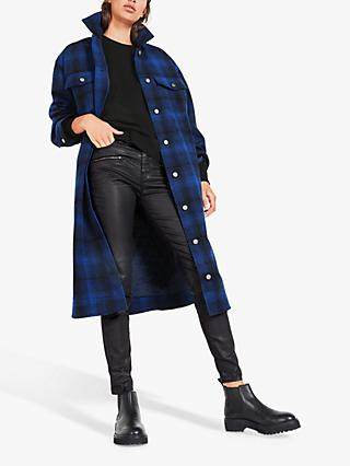 hush Marjo Check Jacket, Blue