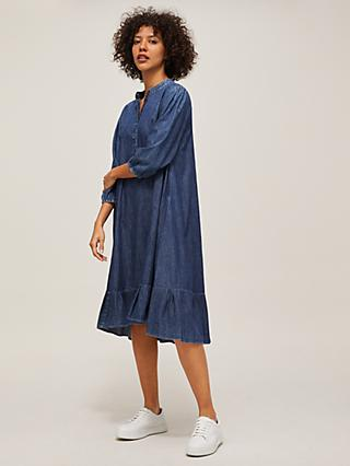 AND/OR Fifi Denim Dress, Mid Wash Blue
