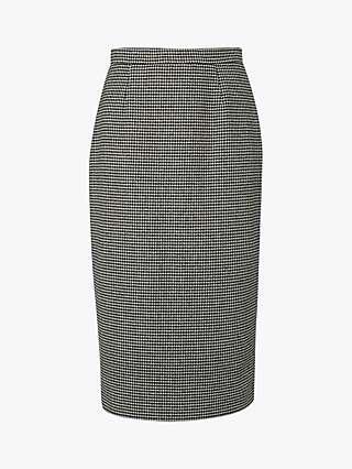 L.K.Bennett Nina Check Skirt, Black/Cream