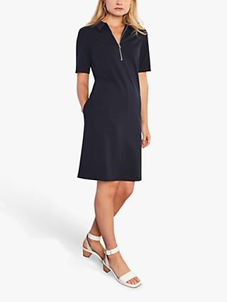 Jigsaw A-Line Neck Mini Dress, Navy