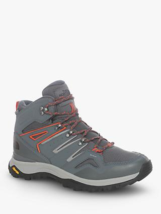 The North Face Hedgehog Fastpack II Mid Men's Waterproof Hiking Shoes, Asphalt Grey/Flare