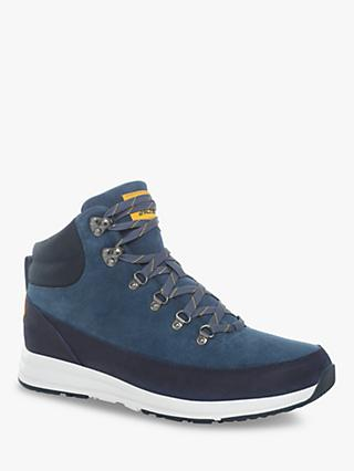 The North Face Back-To-Berkeley Redux Lux Men's Waterproof Hiking Boots, Blue Wing Teal/TNF Black