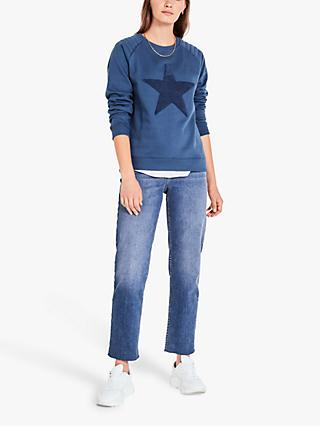 hush Star Sweat Top, Blue