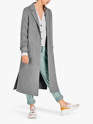 hush Double Split Coat, Grey